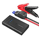 Car Jump Starter RAVPower 10000mAh 400A Peak Current Portable Car Battery Charger with Smart Jumper Cables for up to 3L Gasoline Engines, Auto Car Battery Booster Power Pack and Phone Power Bank