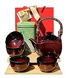 Sac-cadeau-Th-vert-et-japonais-noir-et-terre-cuite-ensemble-thire