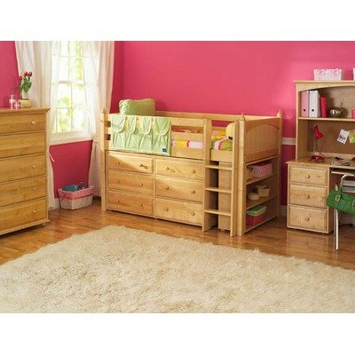 Cheap Maxtrix Kids Box 2 / One One 2 Twin Box Low Loft Bed with Low Bookcase and Six Drawer Dresser (Box 2 / One One 2)