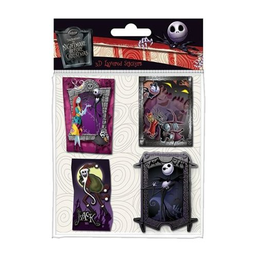 Tim Burton's The Nightmare Before Christmas 3D Sticker Set