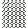Beacon House 283-46941 Ink Lazo White Round Chain Link Wallpaper