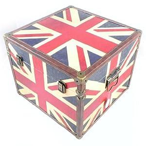 malle coffre drapeau anglais deco londres. Black Bedroom Furniture Sets. Home Design Ideas