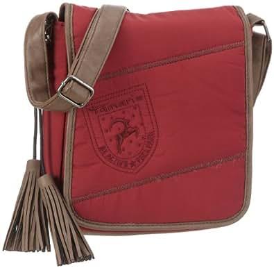 Tamaris CAROL City Bag A611-28-01-293-541, Damen Umhängetaschen, Rot (cranberry/graphite 541), 22x24x9 cm (B x H x T)