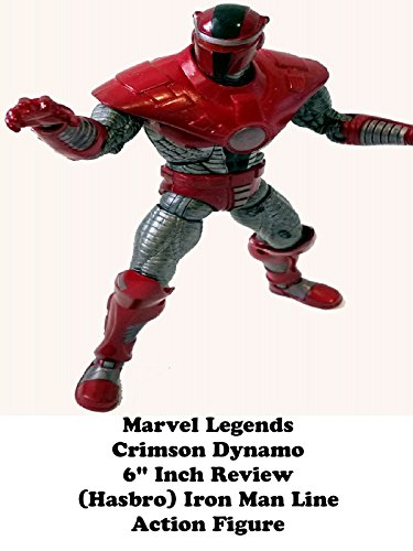 "Marvel Legends CRIMSON DYNAMO Review 6"" inch (Hasbro) Iron Man line action figure toy"