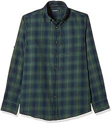 Ruggers Men's Casual Shirt (8907242818849_267796757_X-Large_Dark Green)