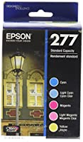 Epson T277920 Epson Claria Photo HD 277 Standard-capacity Color Multi-pack - Cyan, Magenta, Yellow, Light Cyan, Light Magenta (T277920) Ink from Epson