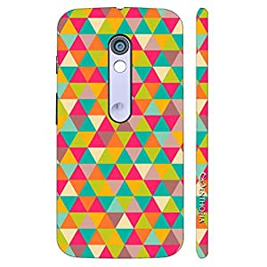 Enthopia Designer Hardshell Case Pink Triangles Back Cover for Motorola Moto X Play