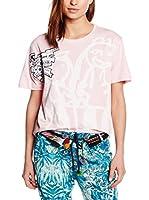 Desigual Camiseta Manga Corta Niñas Fresh R (Rosa)