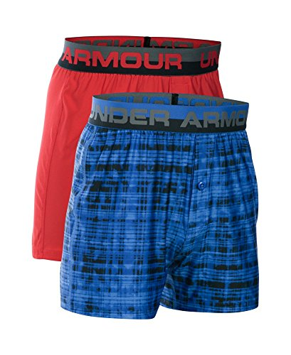 Under Armour Boys' Original Series Boxer Shorts 2-Pack, Sailing Blue (992), Youth X-Small