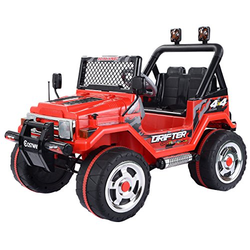costzon-12v-mp3-kids-raptor-jeep-truck-rc-ride-on-car-w-double-motors-batteries-red