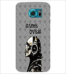 PrintDhaba Skeleton D-4235 Back Case Cover for SAMSUNG GALAXY S6 (Multi-Coloured)