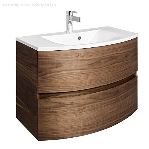 Luxury Bauhaus Svelte mm Wall Mounted Bathroom Vanity Unit Storage Cabinet Cupboard Drawers u Mineral Marble Basin