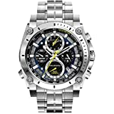 Bulova Herren-Armbanduhr Champlain Chronograph Quarz Edelstahl 96B175