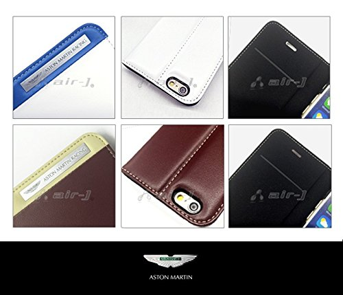 iPhone6 Plus専用本革手帳型ケース[Aston Martin Racing Genuine Leather Folio Case with Metal Logo TD Stripes for iPhone6 Plus]