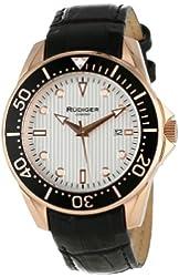 Rudiger Men's R2000-09-001L Chemnitz Rose Gold IP Case Silver Luminous Dial Watch
