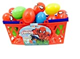 Pack of 18 Marvel Spiderman Candy Filled Plastic Eggs for Easter Basket