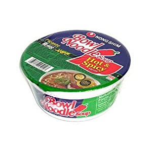Nong Shim Bowl Noodle Hot Spicy Soup - 12 Pack from Nong Shim