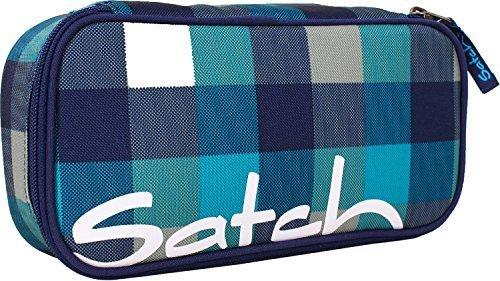 Satch by Ergobag Schlamperbox Blister 932 karo blau-türkis