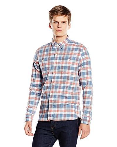 Levi's Camisa Hombre Workshirt Skinny Azul / Rojo