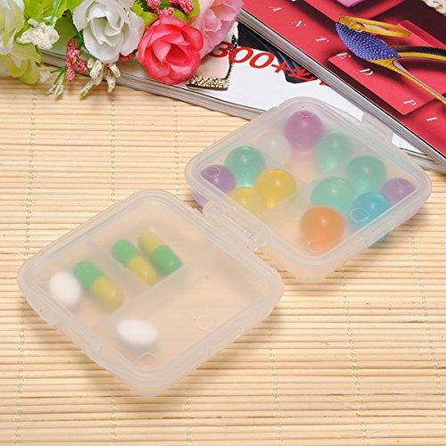 Follsy (White) 6 Compartments 2 Layer Portable Pill Storage Box Organizer & Blue Headband
