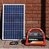 Solar Generator Plug N Play Kit with Duracell Powerpack 600 By Offgridsolargenerators W New 25ft Wire