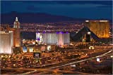 Canvas print 100 x 70 cm: USA, Nevada, Las Vegas: Evening View of The Strip (Las Vegas Boulevard) Looking SE from the Rio Suit by Walter Bibikow / Danita Delimont - ready-to-hang wall picture, stretched on canvas frame, printed image on pure canvas fabri