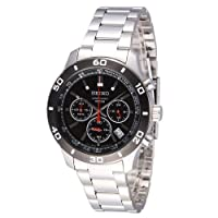 Seiko Chronograph Black Dial Mens Watch SSB053 from Seiko