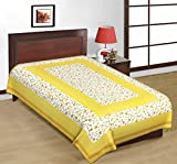 Kismat Collection Cotton Printed Single Bed Sheet