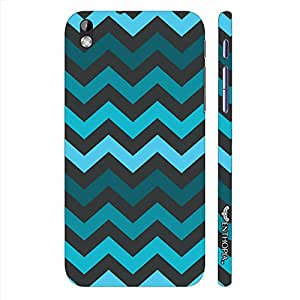 HTC Desire 816 CHEVRON BLUES designer mobile hard shell case by Enthopia