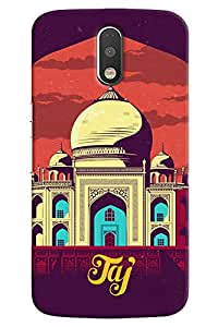 Omnam Taj Mahal Cartoon Beautifully Designed Back Cover Case For Motorola Moto G4