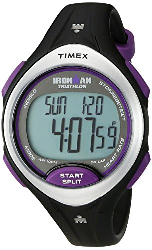 Timex-Womens-T5K723-Ironman-Road-Trainer-Mid-Size-Digital-HRM-Watch-Flex-Tech-Chest-Strap