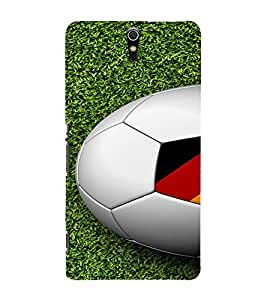 PrintVisa Sports Football Germany Design 3D Hard Polycarbonate Designer Back Case Cover for Sony Xperia C5 Dual