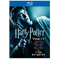 """Harry Potter Years 1-6"" on Blu-ray or DVD"