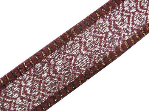 4.5 Yd Plum Jacquard Weaving Ribbon Trim Sewing Craft Lace Border