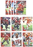2010 Topps Tampa Bay Buccaneers Complete Team Set of 11 cards with bonus 4 Pocket Notebook Set Includes Josh Freeman, Cadillac Williams, Reggie Brown, rookie of Gerald McCoy, Arrelious Benn, Mike Williams, and more