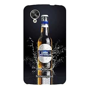 HomeSoGood Responsibility To Drink Beer Black 3D Mobile Case For LG Nexus 5 (Back Cover)