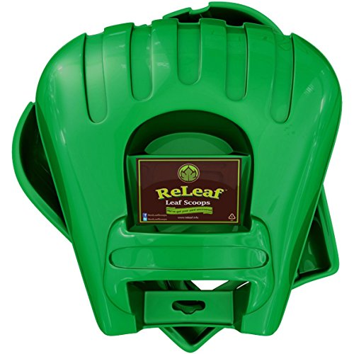 ReLeaf Leaf Scoops: Ergonomic, Large Hand Held Rakes for Fast Leaf & Lawn Grass Removal (Trash Can Hauler compare prices)