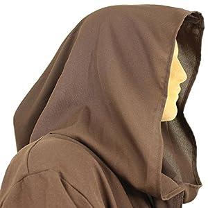 Men's Jedi Sith Robe Cloak Costume Adult Brown Black (L/XL (60
