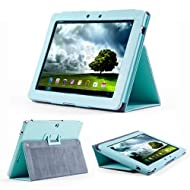 GMYLE (TM) Robin Egg Blue PU Leather Slim Flip Folio Carry Case Cover Stand Folder for Asus Transformer TF300...