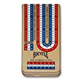 516DGcof70L. SL160  Bicycle Folding Cribbage Board 12   3 Track with Pegs & Instructions