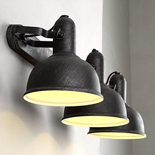GaoHX Light Lampada Da Parete Di Americana Industriale Dell'Annata Tinta Legno Camera Da Letto Parete Bar Internet Café Rullo Telescopico
