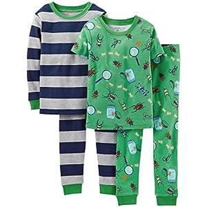 Carter's 4-pc. Bug Collector Snug-fit Pajamas - Toddler Boys - Green - 2T - Carter's