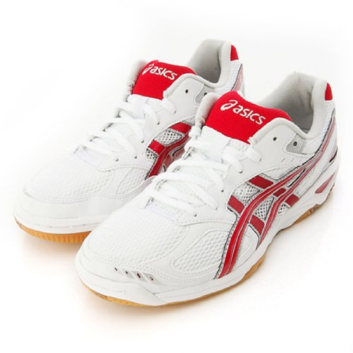 Asics Rote Livre Fl4 Volleyball Badminton Shoes, White-Red