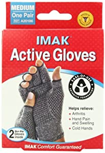 IMAK Active Gloves, Medium, 1 Pair by Brownmed