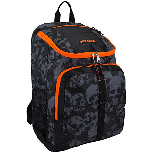 fuel-top-loader-laptop-backpack-black-orange-skull-print-one-size