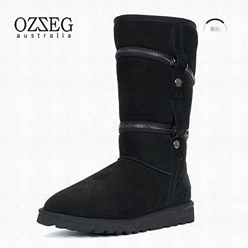 yjnb neve stivali donna Limited Edition nuovo invernale calda unisex stivali da donna scarpe, Black, 39EU/6.5UK/8.5US