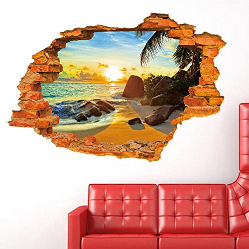 [Sunset 3D Removable Wall Stickers Home Room Vinyl Mural DIY Art Decor 24