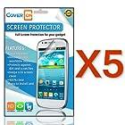CoverON® 5 PACK CLEAR LCD Screen Protector Shield for LG L35G OPTIMUS LOGIC / OPTIMUS L3 E400 / L38C DYNAMIC [WCS662]
