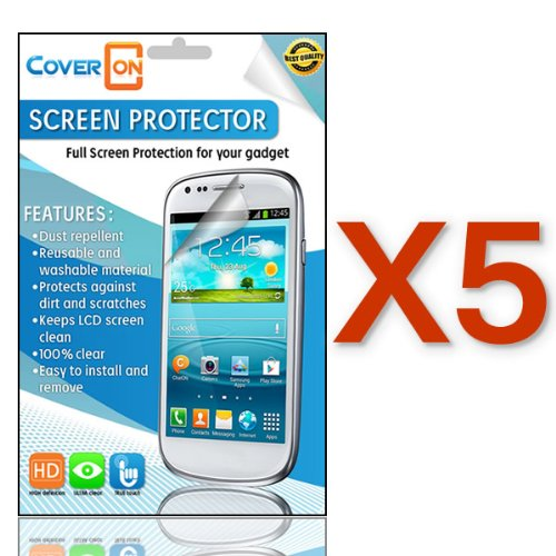 Coveron(Tm) 5 Pack Clear Lcd Screen Protector Shield For Blackberry Q10 [Wca65]