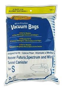 "Generic Hoover Style ""S"" Vacuum Cleaner Bags 9 pk"
